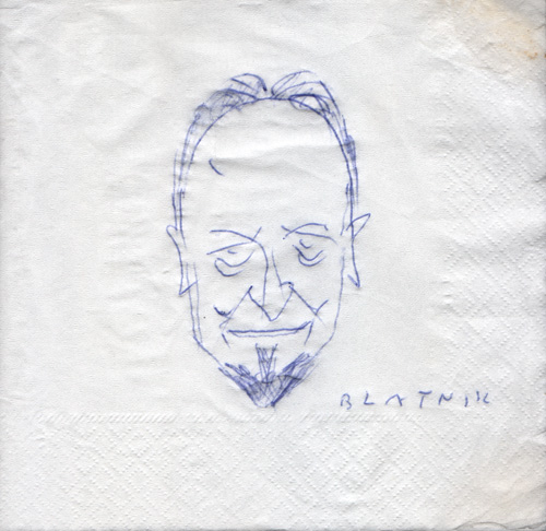 Портрет-карикатура Владице Миленковића, аутор Александар Блатник